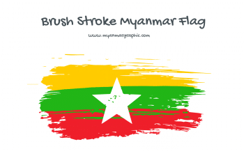 Brush Stroke Myanmar Flag