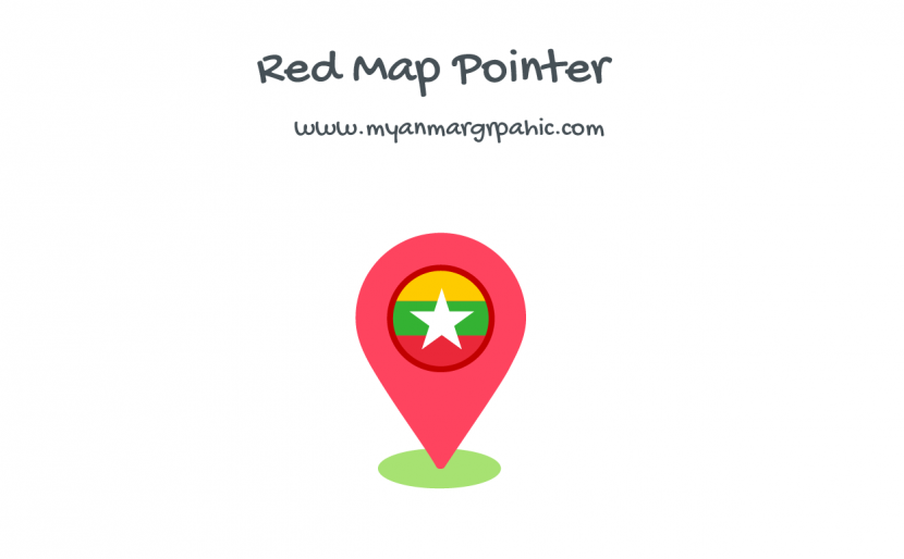 Myanmar Map Pointer Red
