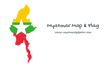 Myanmar Map And Flag