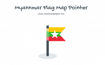 Myanmar Flag Map Pointer