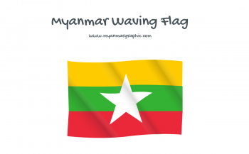 Myanmar Waving Flag