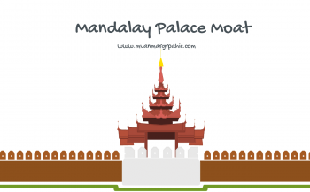 Mandalay Palace Moat | Free Myanmar Graphic Vector