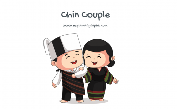 Chin Couple Character Vector