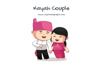 Kayah Couple Character Vector