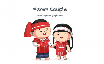 Karen Couple Character Vector