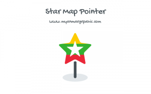 Star Map Point with Myanmar Flag