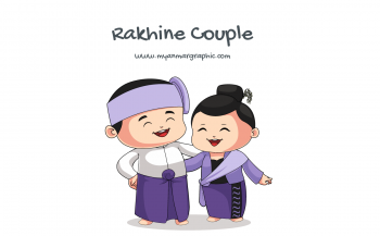 Rakhine Couple Character Vector